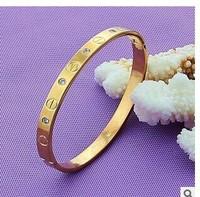 Top Quality Pretty Lady Gold Bangle Lover Bracelet Jewelry Metal Bracelet bangles Mosaic bracelet 10pcs