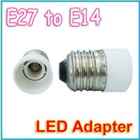 5pcs/lot E27 to E14 lamp base Adapter Converter LED Adapter White wholesale