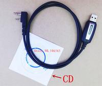 New Original Baofeng USB programming Cable with CD for BF-UV5R,BF888S,BF-UV82,BF-UVB5,BF-UVB6,BF-UV8D walkie talkie etc K plug
