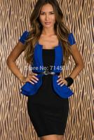 strapless korean version slim formal woman career dress above knee mini temperament stretchy short elegant dress