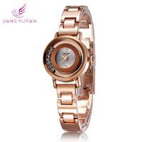Bracelet Watch Women Fashion Casual Rhinestones Quartz Watches Rose Gold Watches