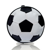 New Portable PU Leather White Soccer Shape 24 Disc Capacity Auto Car CD DVD Bag Case Storage Holder Organizer