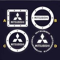 Free shipping  Reflective car stickers    Mitsubishi    fuel tank sticker