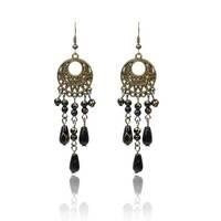 Black Brincos Bohemain Jewelry Chandelier Earrings Imitation Gemstone New 2014 Dangle Ear rings for Women