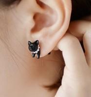 Fashion Exaggerated Cute Black Cat Earrings/ Ear studs earring jewelry kawaii gift, novelty item er-604