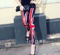 New fashion british flag pants nine points women british flag leggings rice word flags Slim was thin