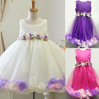 2015 Summer Flower Girl Dresses For Wedding Europe Princess Baby Girls Pageant Tutu Dresses Fashion Party Kids Clothes C30