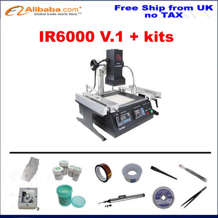 EU countries free ship , No tax! bga accessories kits+ Original LY IR6000 V.1  smd rework station bga machine(China (Mainland))