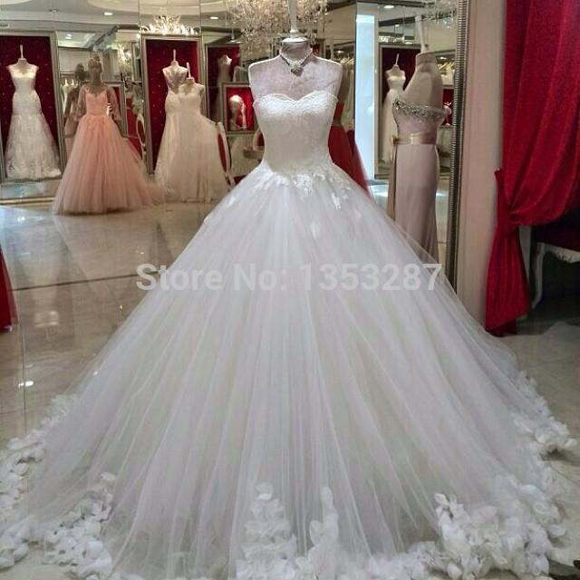 vintage wedding dress ball gown style vestidos de noiva 2015 long strapless appliqued lace up bridal gowns vestidos de boda(China (Mainland))
