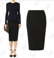 High Quality Cotton High Waist Bodycon Pencil Mid Women Skirts saias femininas Skirts female