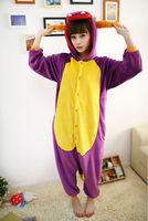 Purple dragon Pajamas Cosplay Costumes Animal Anime Cartoon Pyjamas Sleepwear Sleepsuit Free Shipping