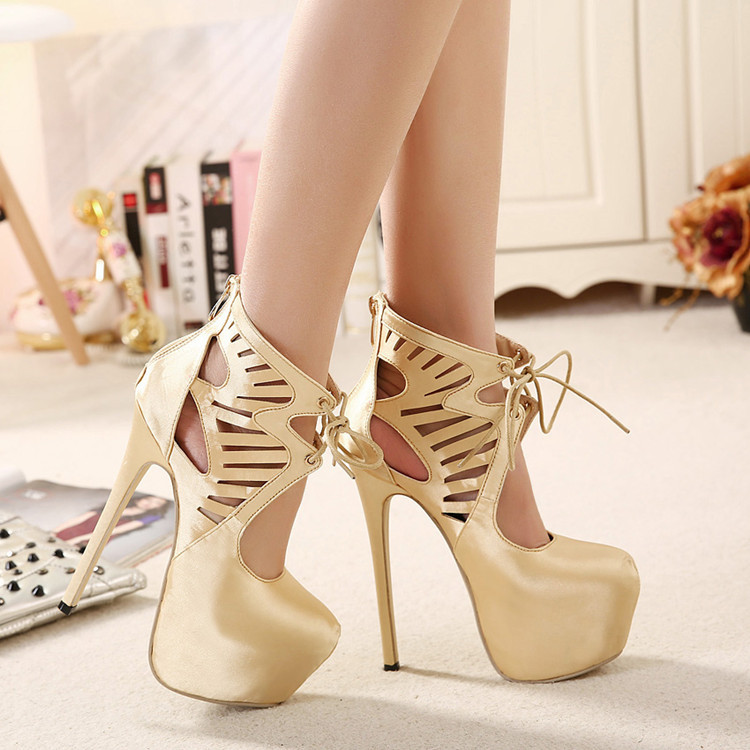Free shipping,Spring and summer high heels sexy pumps gold platform shoes for ladies,black and gold,plus size 35 to 40(China (Mainland))