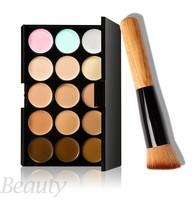 Professional Party 15 Colors Contour Palette Face Cream Makeup Concealer Palette Contouring Makup Palette + Brush SV21 SV015340