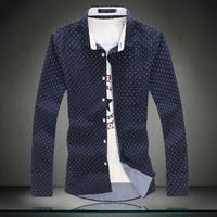2015 Men Shirt New Arrive Cotton Mens Big Yard Casual-shirt Size 5XL 4XL 3XL 2XL XL L M For Men High Quality Shirt Gift