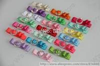 20 Solid Color Baby Tiny Clip Acrylic Diamond hair Clip 50pcs/lot Newborn Mini itty-bitty Hair Bow Kid 2015 Hair Accessory 114