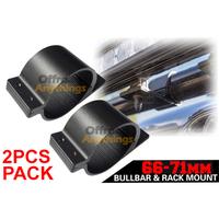 2x 66~71mm Bull Bar Mounting Bracket Clamps Kit Vehicles Fog Driving Light Lamp