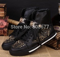 Discount Promotion Black Fashion Sneakers For Men Shoes 2015 Winter Booties High Top Brand Sneakers