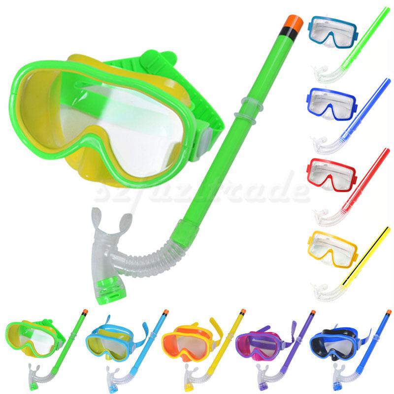 Snorkeling Gear For Kids New Children Kids Swimming Swim Gear Scuba Anti Fog Goggles Mask Dive Diving