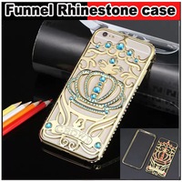 """Luxury Bling Aluminum Palace Imperial crown Diamond Rhinestone back Case cover For iphone 6 4.7 """" plus 5.5 """" inch,Free shipping"""