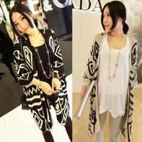 Spring and autumn fashion Lady coat, vintage new Plaid coat, fashion design sleeve knit sweater Cardigan shawl coat