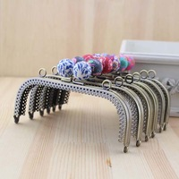 Free Shipping/15cm / Bronze polymer clay square candy bead purse frame sewing handbag handles / Wholesale