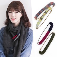 Yarn spirally-wound brooch corsage pin silk scarf cape buckle female