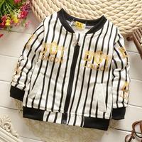 4pc/lot baby boys clothing kids coats stripe cotton children cardigan outerwear wholesale s550