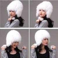Winter Hat Real Fox Fur Hat Russian Ushanka Cossack Women Beanie HC 019 1