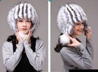 Winter Hat Real Fox Fur Hat Russian Ushanka Cossack Women Beanie HC 020 1