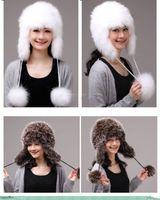Winter Hat Real Fox Fur Hat Russian Ushanka Cossack Women Beanie HC 003 1
