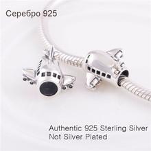Fits Pandora Chamilia Bracelet Necklace 925 Sterling Silver Charm Jewelry Plane Bead  DIY Gift Jewelry