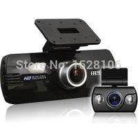 "F9 HD 1080P Dual Lens Super Night Vision King Top Quality 2.7"" 174 Degree Car DVR Vehicle Camera Video Recorder G-sensor HDMI"