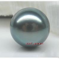 huge AAA+11-12mm tahitan black Pearl Half-naked bead hole