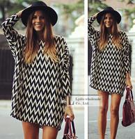 2015 casual stripe body Women's blouses tops female blusas femininas plus size women blouses Chiffon skirt dress