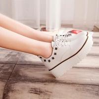 2015 Casual women shoes wedge muffin bottom spring platform sneaker sapatilhas femininos women shoes40