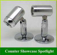 LED Spot Light Counter Showcase 1W Spotlight with Bracket 10PCS Free Shipping