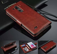 Luxury Vintage Wallet With Stand PU Leather Case Cover For LG G3 D855 Card Holder Phone Bag Flip Case Drop Ship