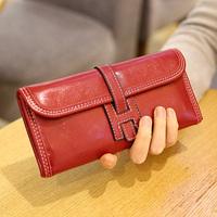 New Fashion Women Wallets Genuine Leather Purses Brand Vintage Long Wallet Women Famale wallets Woman clutch Purse Handbag