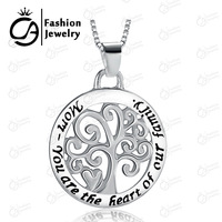 2015 Fashion MOM-You are the heart of our family Pendant Necklace Family Tree Women Mother Gift Jewelry