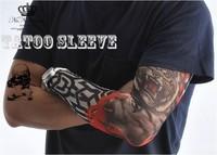 men women Free shipping 4 PCS new mixed 100% Nylon elastic Fake temporary tattoo sleeve designs body Arm stockings tatoo