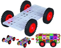 Magnetic Stick Car Accessory 1 Wheel Base with 4 Wheels SET