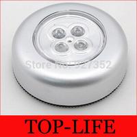 200pcs/lot RA 4 LED Stick on Tap Lights Adhesive Night Push Touch Peel Stick 4 LED Free Shipping