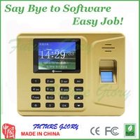 Hot Easy Cheap Self  Fingerprint Time Attendance Time Clock  Golden Color