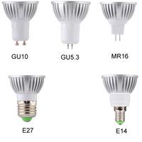 3W High Power LED Spotlight Bulbs MR16 Base Lamp LED Bulbs DC12V Voltage 50000H Lifespan High Power Hot Sale MDLSP-6-002