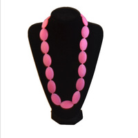 BPA Silicone Teeth Necklaces Silicone Teething Beads DIY Jewelry for Mother ,Baby Chewing Necklaces Teethers