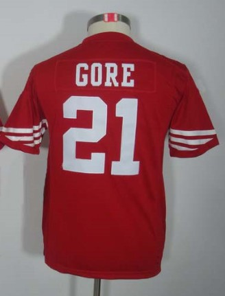 Retail Factory Price/#21 Frank Gore Jersey,Youth/Kids Football Jersey,Best quality,Authentic Jersey(China (Mainland))