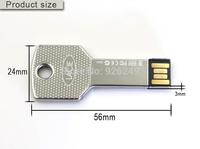 New arrival high sales Waterproof Metal Key USB Memory Stick Flash Pen Drive 64GB 32GB 16GB 8GB Business  memory stick pendrives