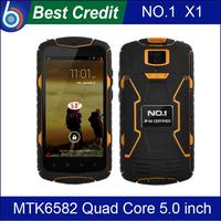 In stock!Original NO.1 X1 X-Men IP68 MTK6582 Quad Core 8GB ROM 5800mAh Battery Shock Waterproof  Android 4.4 Cell phone/Kate
