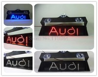 NEW high quality A-U-D-I-S Single Letter led car light accessories Second-Generation 2rd Additional brake lights