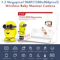 AP wireless Phone View1.3 Megapixel 960P(1280x960pixel) Smart wireless baby monitor camera TF card record